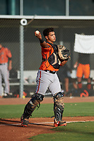 AZL Giants Orange catcher Omar Medina (6) during an Arizona League game against the AZL Giants Black on July 19, 2019 at the Giants Baseball Complex in Scottsdale, Arizona. The AZL Giants Black defeated the AZL Giants Orange 8-5. (Zachary Lucy/Four Seam Images)