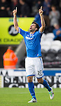 St Mirren v St Johnstone...19.10.13      SPFL<br /> Rory Fallon celebrates his goal<br /> Picture by Graeme Hart.<br /> Copyright Perthshire Picture Agency<br /> Tel: 01738 623350  Mobile: 07990 594431