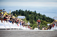 Dylan Teuns (BEL/Bahrain Merida) takes the stage win atop La Planche des Belles Filles. <br /> <br /> Stage 6: Mulhouse to La Planche des Belles Filles (157km)<br /> 106th Tour de France 2019 (2.UWT)<br /> <br /> ©kramon