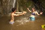 water fight between my interns during the Costa Rica trip