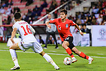 Hong Chul of South Korea (R) fights for the ball with Sayed Redha Isa of Bahrain (L) during the AFC Asian Cup UAE 2019 Round of 16 match between South Korea (KOR) and Bahrain (BHR) at Rashid Stadium on 22 January 2019 in Dubai, United Arab Emirates. Photo by Marcio Rodrigo Machado / Power Sport Images
