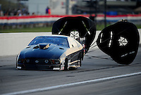 Sept. 3, 2011; Claremont, IN, USA: NHRA pro mod driver Eric Dillard during qualifying for the US Nationals at Lucas Oil Raceway. Mandatory Credit: Mark J. Rebilas-