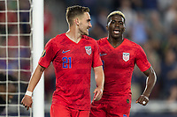SAINT PAUL, MN - JUNE 18: Tyler Boyd, Gyasi Zardes, Christian Pulisic of the United States during a 2019 CONCACAF Gold Cup group D match between the United States and Guyana on June 18, 2019 at Allianz Field in Saint Paul, Minnesota.