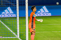CARSON, CA - OCTOBER 14: James Marcinkowski #18 GK of the San Jose Earthquakes during a game between San Jose Earthquakes and Los Angeles Galaxy at Dignity Heath Sports Park on October 14, 2020 in Carson, California.
