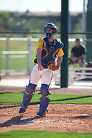 Michael Fernandez Jr. (6) of Bellevue High School in Bellevue, Washington during the Baseball Factory All-America Pre-Season Tournament, powered by Under Armour, on January 13, 2018 at Sloan Park Complex in Mesa, Arizona.  (Zachary Lucy/Four Seam Images)