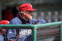 Lehigh Valley IronPigs manager Ryne Sandberg #23 during a game against the Buffalo Bisons at Coca-Cola Field on April 19, 2012 in Buffalo, New York.  Lehigh Valley defeated Buffalo 8-4.  (Mike Janes/Four Seam Images)