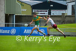 Paul Geaney, Kerry in action against Liam Silke, Galway during the Allianz Football League Division 1 South Round 1 match between Kerry and Galway at Austin Stack Park in Tralee.