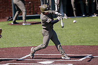 Vanderbilt Commodores catcher C.J. Rodriguez (5) takes a swing against the South Carolina Gamecocks at Hawkins Field in Nashville, Tennessee, on March 21, 2021. The Gamecocks won 6-5. (Danny Parker/Four Seam Images)