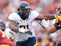 September 22, 2012: California's DeAndre Coleman in action during a game against USC at the Los Angeles Memorial Coliseum, Los Angeles, Ca  USC defeated California 27- 9