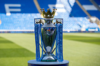 The Premier League trophy pre match during the Premier League match between Cardiff City and Liverpool at the Cardiff City Stadium, Cardiff, Wales on 21 April 2019. Photo by Andy Rowland.<br /> .<br /> Editorial use only, license required for commercial use. No use in betting,<br /> games or a single club/league/player publications.'