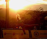 CALI - COLOMBIA - 02-08-2013: Partido de Balonmano Playa entre Brasil y República Tunecina en los IX Juegos Mundiales Cali, agosto 2 de 2013. (Foto: VizzorImage / Luis Ramirez / Staff). Match of Beach Handball between Brazil and Tunisian Republic in the IX World Games Cali, August 2 2013. (Photo: VizzorImage / Luis Ramirez / Staff).
