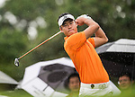 Players in action during the Mission Hills Celebrity Pro-Am on 26 October 2014, in Haikou, China. Photo by Aitor Alcalde / Power Sport Images