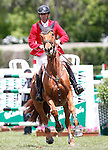 Spain's jockey Jose Diaz with the horse Nivaquine D'as during 102 International Show Jumping Horse Riding, King's College Trophy. May, 20, 2012. (ALTERPHOTOS/Acero)