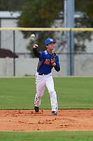 Ryan Vance (2) of Fresno, California during the Baseball Factory All-America Pre-Season Rookie Tournament, powered by Under Armour, on January 13, 2018 at Lake Myrtle Sports Complex in Auburndale, Florida.  (Michael Johnson/Four Seam Images)