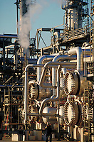 worker at petrolium refinery