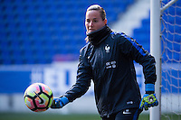HARRISON, New Jersey - Friday, March 3, 2017: The French Women's National Team practices a day ahead of their match against Germany during the She Believes Cup.