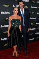 WEST HOLLYWOOD, CA, USA - AUGUST 23: Actress Kaley Cuoco and husband Ryan Sweeting arrive at the 2014 Entertainment Weekly Pre-Emmy Party held at the Fig & Olive on August 23, 2014 in West Hollywood, California, United States. (Photo by Xavier Collin/Celebrity Monitor)