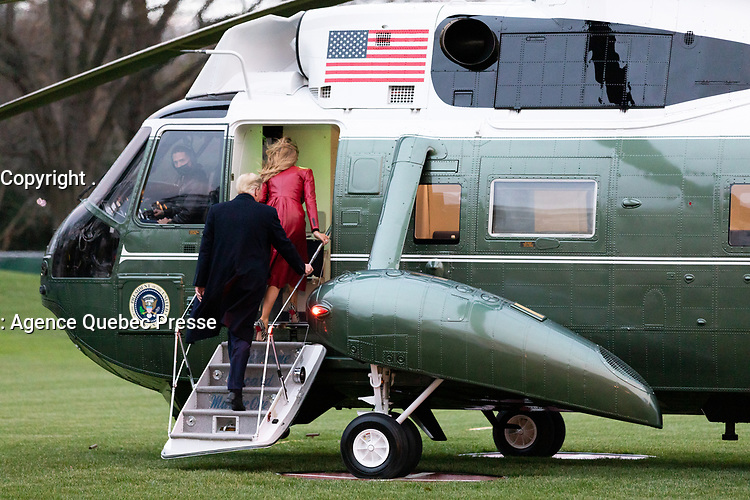 President Trump and the First Lady Depart for Florida<br /> <br /> President Donald J. Trump and First Lady Melania Trump board Marine One on the South Lawn of the White House Saturday, Dec. 5, 2020, to begin their trip to Georgia. (Official White House Photo by A.J. Olnes)