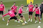 Real Madrid's Nacho Fernandez, Sergio Ramos, Alvaro Arbeloa, Asier Illarramendi, Toni Kroos and James Rodriguez during training session.January 30,2015.(ALTERPHOTOS/Acero)