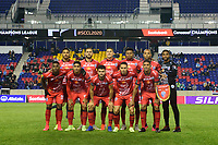 HARRISON, NJ - FEBRUARY 26: AD San Carlos Starting Eleven during a game between AD San Carlos and NYCFC at Red Bull on February 26, 2020 in Harrison, New Jersey.
