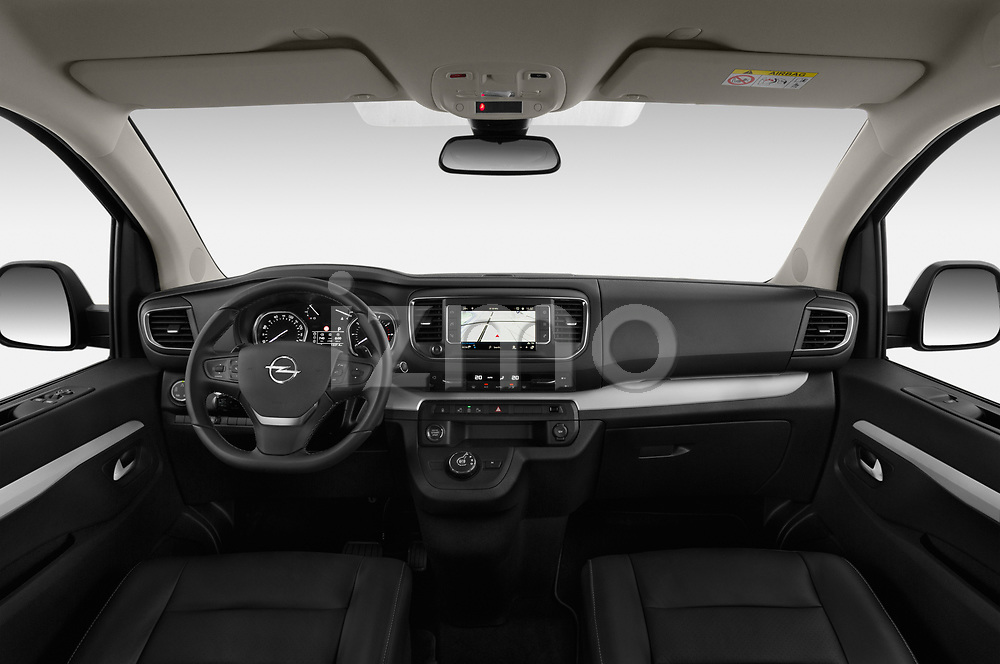 Stock photo of straight dashboard view of a 2020 Opel Zafira-Life Business-Innovation 5 Door Mini Van