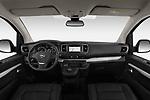 Stock photo of straight dashboard view of a 2020 Opel Zafira-Life Business-Innovation 5 Door Mini Van