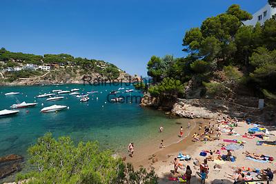 Spain, Catalonia, Costa Brava, Sa Riera, near Begur: Platja de Sa Riera   Spanien, Katalonien, Costa Brava, Sa Riera bei Begur: Platja de Sa Riera