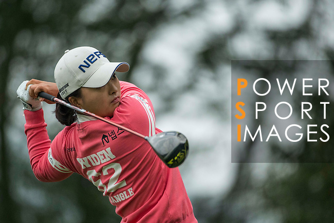 Jin Young Ko of South Korea tees off at the 16th hole during Round 3 of the World Ladies Championship 2016 on 12 March 2016 at Mission Hills Olazabal Golf Course in Dongguan, China. Photo by Victor Fraile / Power Sport Images