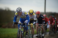 Stijn Steels (BEL/Topsport Vlaanderen-Baloise) biting his way through the foul weather and hard racing<br /> <br /> GP Samyn 2016