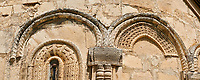 Pictures & images of Nikortsminda ( Nicortsminda ) St Nicholas Georgian Orthodox Cathedral exterior and its Georgian relief sculpture stonework, 11th century, Nikortsminda, Racha region of Georgia (country). A UNESCO World Heritage Tentative Site.
