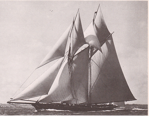 """John Mulholland's schooner, the """"wonderful Egeria"""", was built in 1865, and a couple of years later, she became the talk of the town after threading her way through a very crowded harbour to win the Royal Irish regatta when the finish was right in at the clubhouse."""