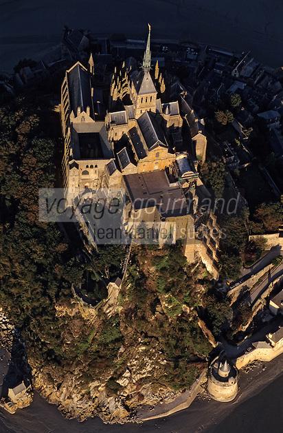 Europe/France/Normandie/Basse-Normandie/50/Manche/Mont Saint-Michel: Vue aérienne du Mont