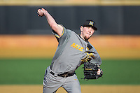 Missouri Tigers relief pitcher Alec Rash (19) in action against the Radford Highlanders at Wake Forest Baseball Park on February 21, 2014 in Winston-Salem, North Carolina.  The Tigers defeated the Highlanders 15-3.  (Brian Westerholt/Four Seam Images)