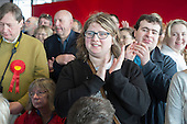 Labour Party members.  Labour Party general election campaign launch, Stratford, London.
