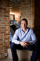 Dan Luger, financial entrepreneur and former England international rugby player, poses for the photographer at his office, Monaco, Friday 19th February 2010