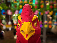 The year of the Rooster, carving and figurines of Roosters, Cambodia