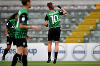 Kamila Dubcova of Sassuolo celebrates after scoring the goal of 1-0 during the women Serie A football match between US Sassuolo and Hellas Verona at Enzo Ricci stadium in Sassuolo (Italy), November 15th, 2020. Photo Andrea Staccioli / Insidefoto