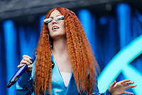 Pictured: Jess Glynne performs on stage. Saturday 26 May 2018<br /> Re: BBC Radio 1 Biggest Weekend at Singleton Park in Swansea, Wales, UK.