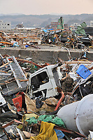 Scenes of destruction in the coastal town after the Tsunami destroyed large parts of the north east coast in the town of Minamisanriku, Miayagi Prefecture, Japan on Tuesday, 15th March, 2011. (Picture By Mark Pearson / ShelterBox)