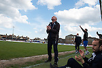 Lowestoft Town 2 Barrow 3, 25/04/2015. Crown Meadow, Conference North. Barrow make the six-hour trip to Suffolk needing a win to secure the title. Retiring Lowestoft Town legend Micky Chapman looks to the heavens for an equaliser during his last ever match in charge. Photo by Simon Gill.