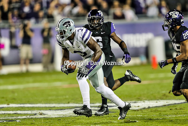 Kansas State Wildcats wide receiver Chris Harper (3) in action during the game between the Kansas State Wildcats and the TCU Horned Frogs  at the Amon G. Carter Stadium in Fort Worth, Texas. Kansas State defeats TCU 23 to 10...