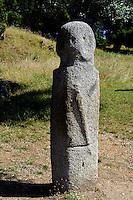 Prähistorische Ausgrabungen von Filitosa, Menhir Filitosa I, Korsika, Frankreich