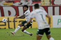 30th May 2021; Maracana Stadium, Rio de Janeiro, Brazil; Brazilian Serie A, Flamengo versus Palmeiras; Luiz Adriano of Palmeiras gets his shot towards goal