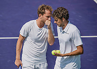 Moscow, Russia, 16 th July, 2016, Tennis,  Davis Cup Russia-Netherlands, Doubles : Matwe Middelkoop (NED) / Robin Haase (NED) (R)<br /> Photo: Henk Koster/tennisimages.com
