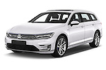 2016 Volkswagen Passat-Variant GTE 5 Door wagon Angular Front stock photos of front three quarter view