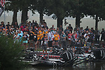 August 11, 2019: Before take off on the final day of the Forrest Wood Cup on Lake Hamilton in Hot Springs, Arkansas. ©Justin Manning/Eclipse Sportswire/CSM