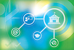 Illustration of online education concept