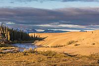 Ahnewetut Creek flows through the Great Kobuk Sand Dunes in the Kobuk Valley National Park, Arctic, Alaska.