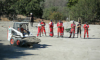 FAO JANET TOMLINSON, DAILY MAIL PICTURE DESK<br />Pictured: Red Cross volunteers with the help of a mini digger search a field in Kos, Greece. Sunday 02 October 2016<br />Re: Police teams led by South Yorkshire Police, searching for missing toddler Ben Needham on the Greek island of Kos have moved to a new area in the field they are searching.<br />Ben, from Sheffield, was 21 months old when he disappeared on 24 July 1991 during a family holiday.<br />Digging has begun at a new site after a fresh line of inquiry suggested he could have been crushed by a digger.