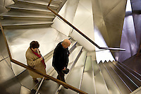 Entry starcase to the CaixaForum, Madrid, Spain